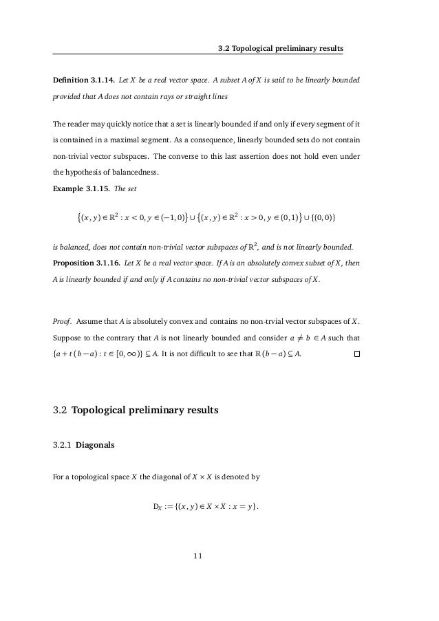 3. PRELIMINARY RESULTS and t ∈ [0,1]. Notice that a + (t b + (1 − t)(−c)) = ( t) b + (a + (1 − t)(−c)) ∈ A+ A in virtue of...
