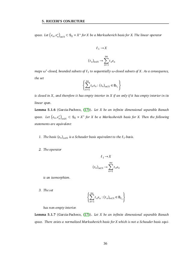 5. RICCERI'S CONJECTURE Proof. Let X be an infinite dimensional Banach space X and consider a non-continous lin- ear functi...