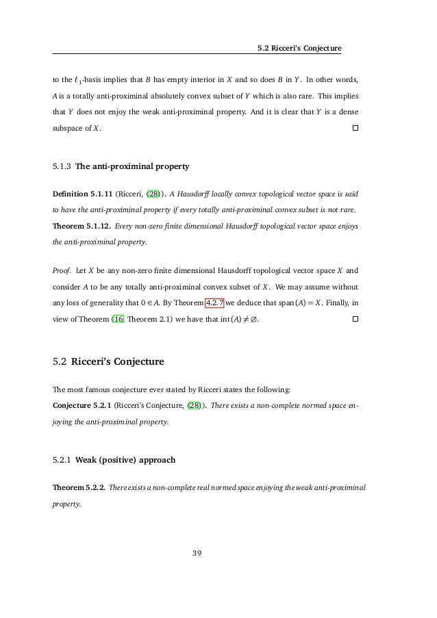 6. GEOMETRIC CHARACTERIZATIONS OF HILBERT SPACES 6.1.1 Extremal structure of ΠX Given a normed space X we will define the s...