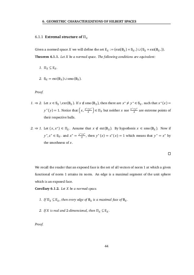 6.1 The set ΠX Proof. First off, notice that H ⊕2 H = DH ⊕2 D− H in virtue of Theorem 6.2.1. By applying Lemma 6.1.7(1) we...