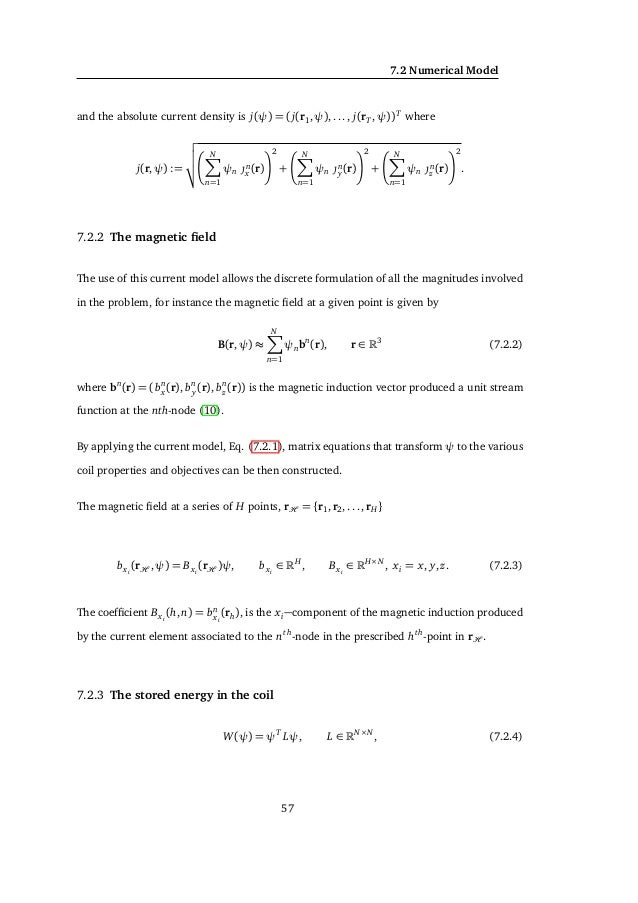 7. APPLICATIONS TO TRANSCRANIAL MAGNETIC STIMULATION where M ∈ with N > M, L ∈ N×N and E ∈ M×N , which can be Ex , Ey, Ez ...