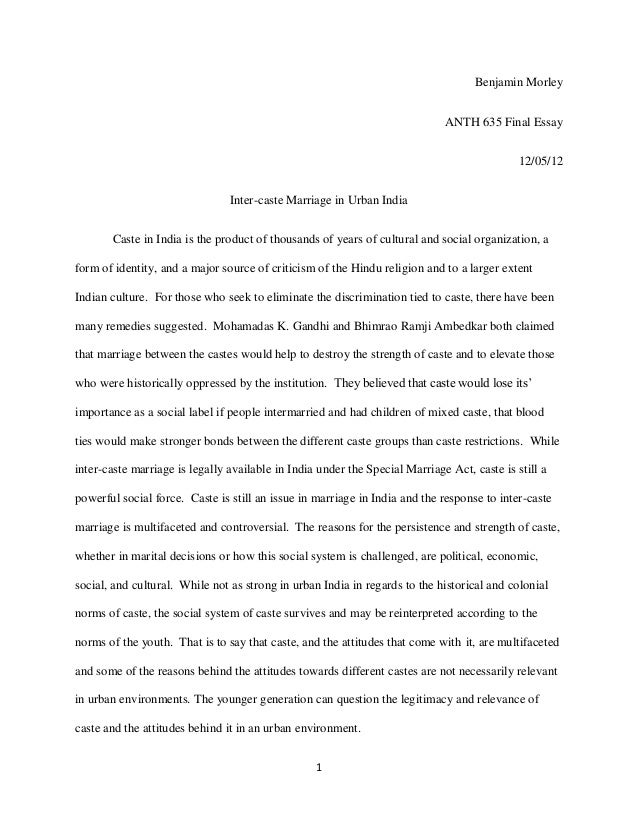 marriage and religion essay