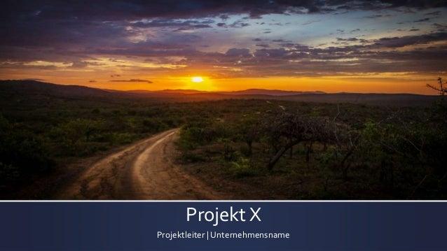 Projekt X Projektleiter | Unternehmensname