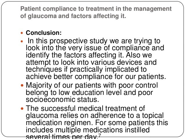 factors affecting the level of compliance Factors affecting treatment compliance among  the study investigated factors affecting treatment compliance with  suboptimal blood pressure levels where by high.
