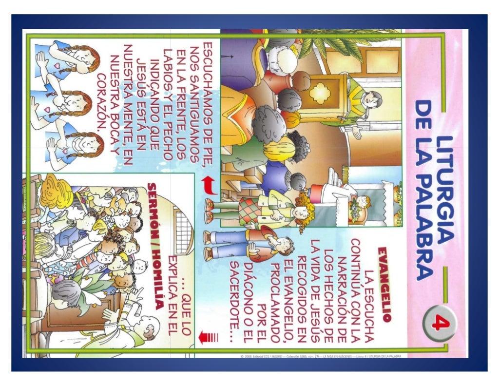 Partes de la Misa en dibujos