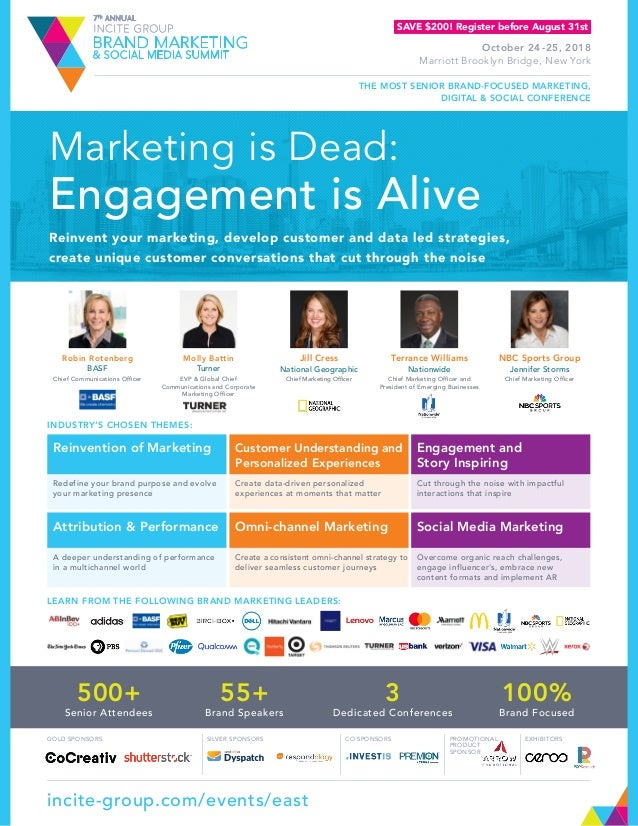 Marketing is Dead: Engagement is Alive Reinvent your marketing, develop customer and data led strategies, create unique cu...