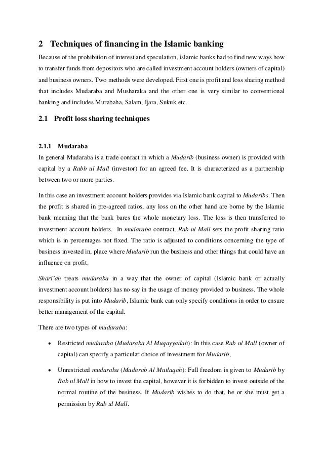 Healthy Diet Essay   Techniques Of Financing In The Islamic Banking  Health Care Essays also E Business Essay Bachelor Thesis  Islamic Banking Essays On English Literature