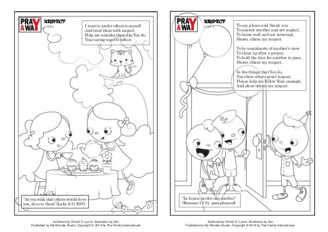Coloring Page Pray A Way Respect Authored By Christi S Lynch Illustration Alvi Published My Wonder Studio