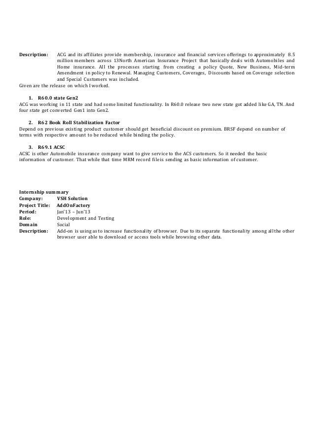 resume mainframe insurance selenium