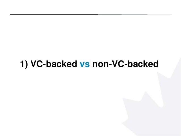4 1) VC-backed vs non-VC-backed