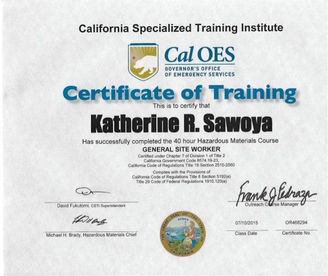 hazwoper certification slideshare upcoming