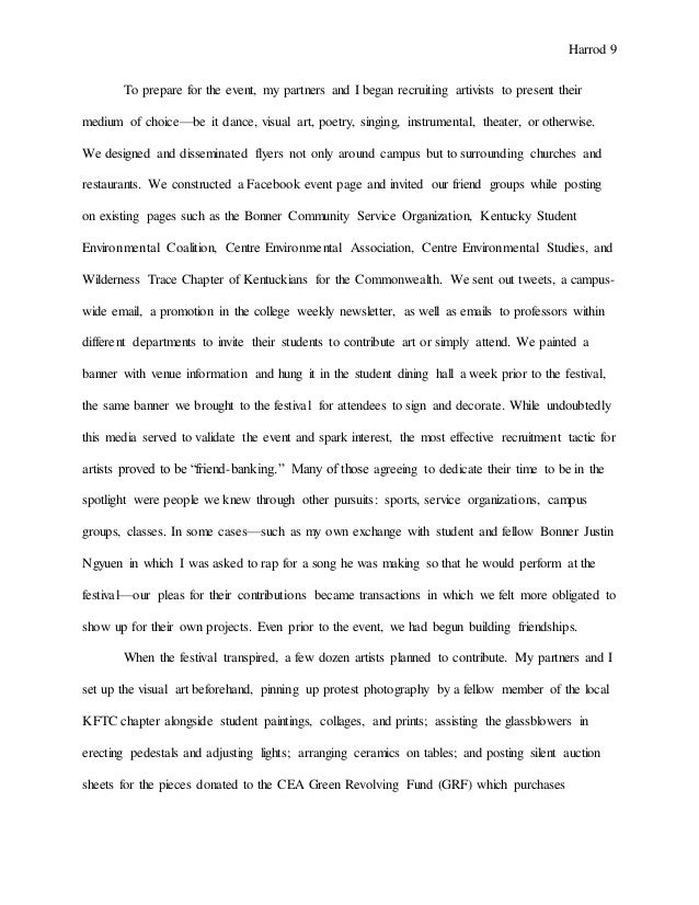a formal essay example proposal