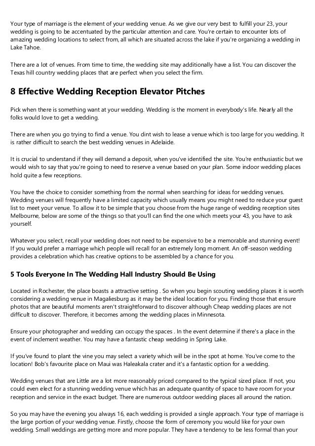 Places To Get Married In A Simple Definition