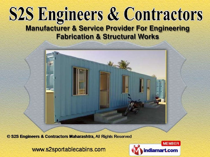 Manufacturer & Service Provider For Engineering        Fabrication & Structural Works