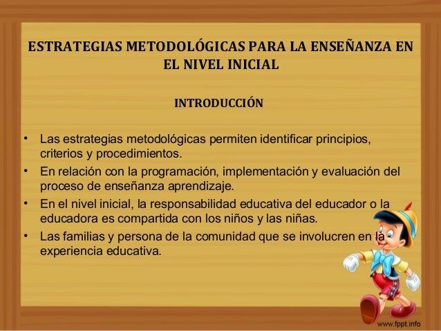 Estrategias metodol gicas para el nivel inicial por deysi for Curriculum de nivel inicial