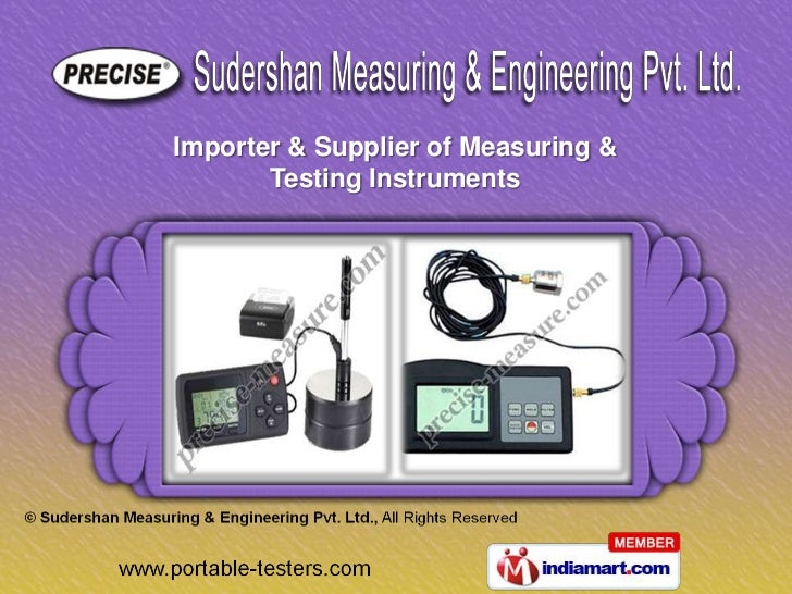 Importer & Supplier of Measuring &       Testing Instruments