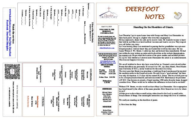 DEERFOOT DEERFOOT DEERFOOT DEERFOOT NOTES NOTES NOTES NOTES April 18, 2021 Let us know you are watching Point your smart p...