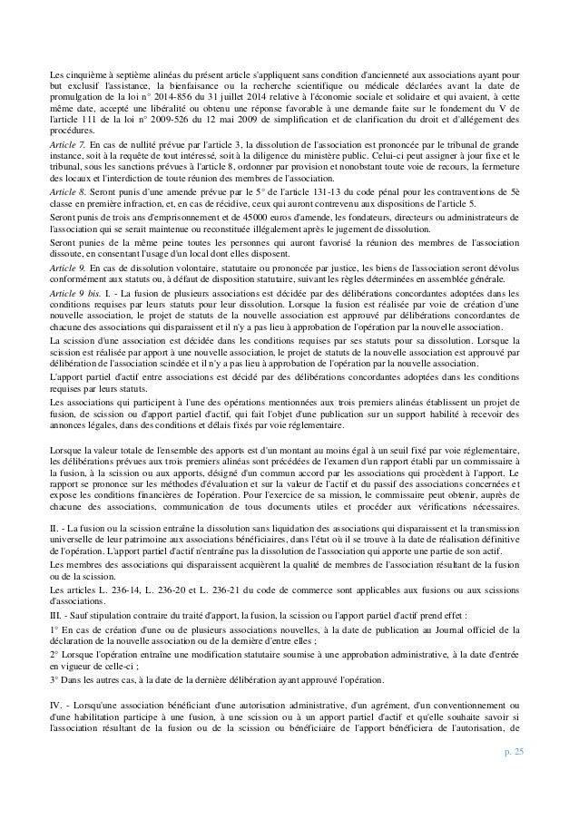 p. 25 Les cinquième à septième alinéas du présent article s'appliquent sans condition d'ancienneté aux associations ayant ...