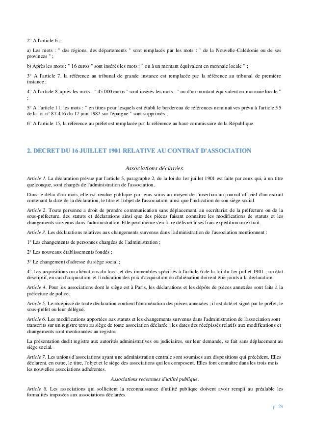 """p. 29 2° A l'article 6 : a) Les mots : """" des régions, des départements """" sont remplacés par les mots : """" de la Nouvelle-Ca..."""