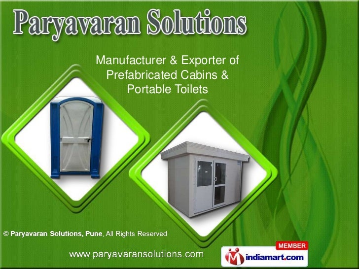 Manufacturer & Exporter of Prefabricated Cabins &     Portable Toilets