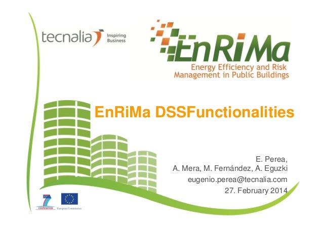 EnRiMa DSSFunctionalities E. Perea, A. Mera, M. Fernández, A. Eguzki eugenio.perea@tecnalia.com 27. February 2014