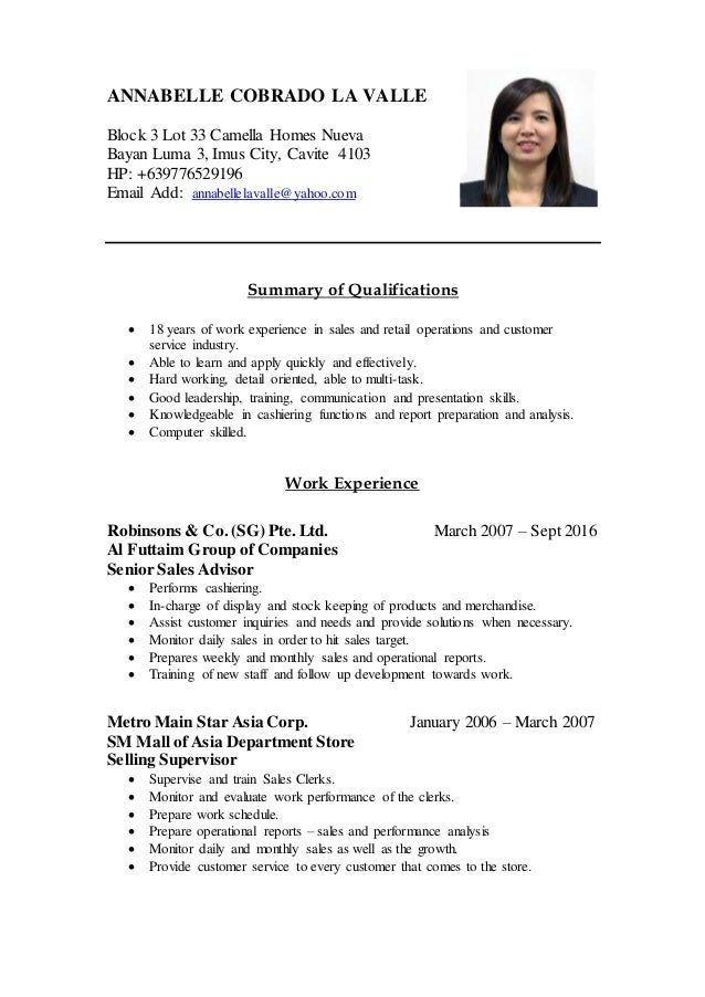 annabelle cobrado la valle updated resume