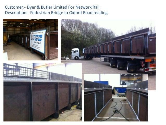 Customer:- Dyer & Butler Limited For Network Rail. Description:- Pedestrian Bridge to Oxford Road reading.