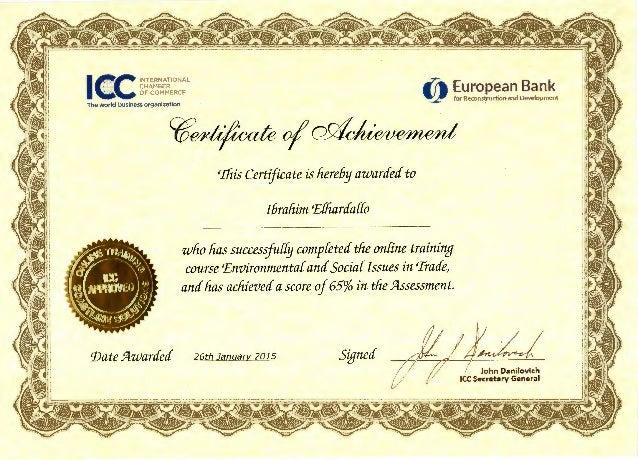 icc certificates