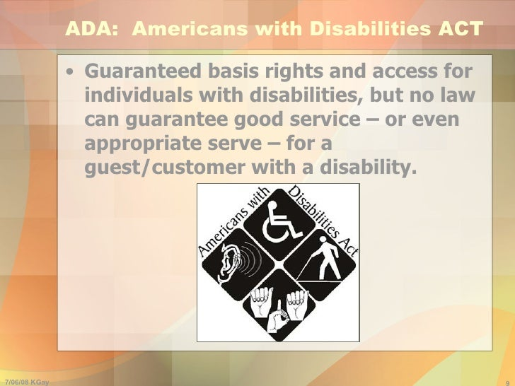 an analysis of americans with disabilities act and disabilities Americans with disabilities act fact sheet overview the americans with disabilities act of 1990 (ada) 1 is a federal law that gives civil rights protections to individuals with disabilities similar to those provided to individuals on the basis of race, color, sex, national origin, age, and religion.