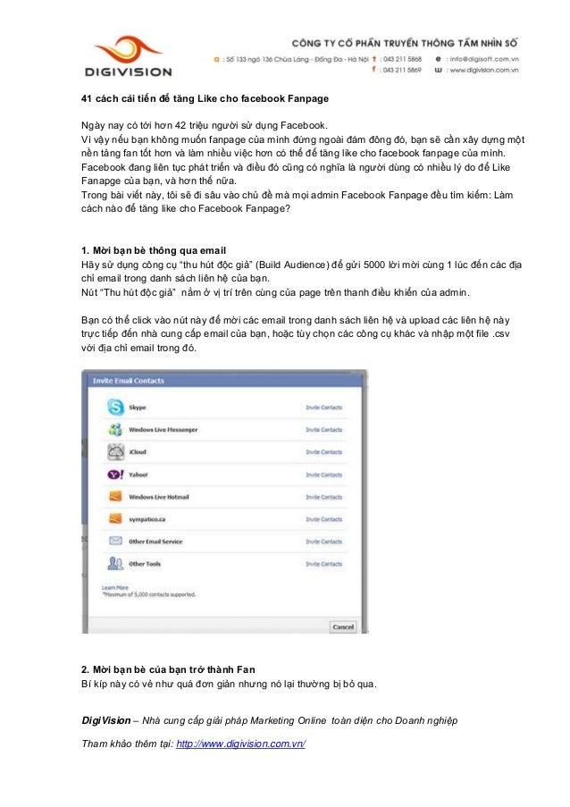 DigiVision – Nhà cung cấp giải pháp Marketing Online toàn diện cho Doanh nghiệp Tham khảo thêm tại: http://www.digivision....