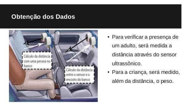 Obtenção dos Dados ● Para verificar a presença de um adulto, será medida a distância através do sensor ultrassônico. ● Par...