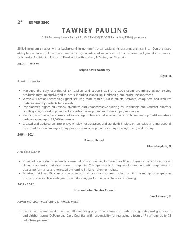 Tawney Pauling Resume Executive Drafts 2