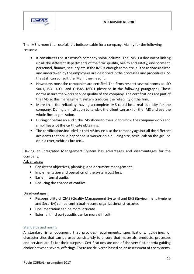 Internship Report Robin Corral