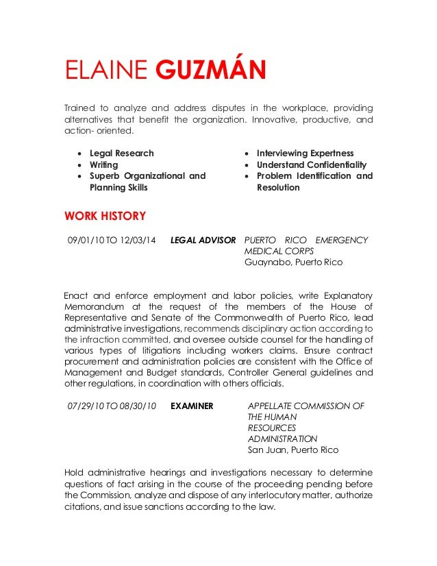 ELAINE GUZMÁN Trained to analyze and address disputes in the workplace, providing alternatives that benefit the organizati...
