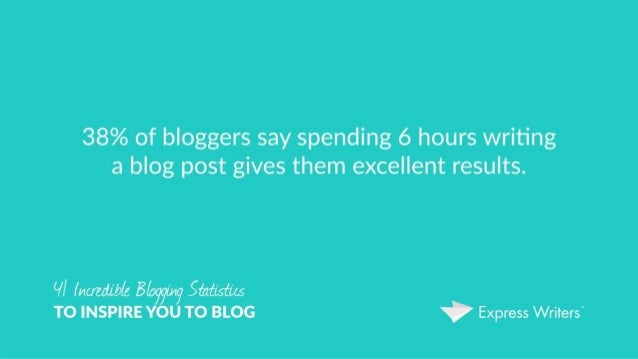 41 Incredible Blogging Statistics to Inspire You to Blog
