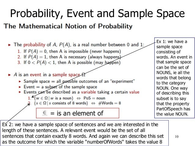 Mathematics for Language Technology: Introduction to Probability Theo…