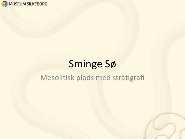 Sminge Sø Mesolitisk plads med stratigrafi