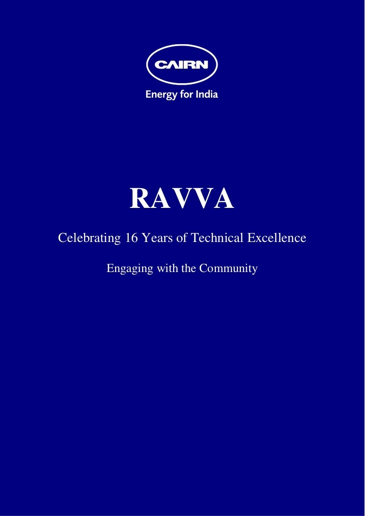 RAVVA    Celebrating 16 Years of Technical Excellence            Engaging with the Community