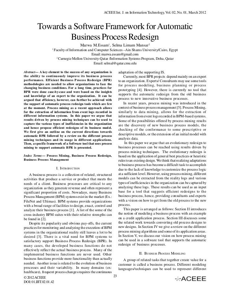 ACEEE Int. J. on Information Technology, Vol. 02, No. 01, March 2012         Towards a Software Framework for Automatic   ...