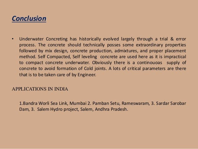 A Seminar On Under Water Concreting