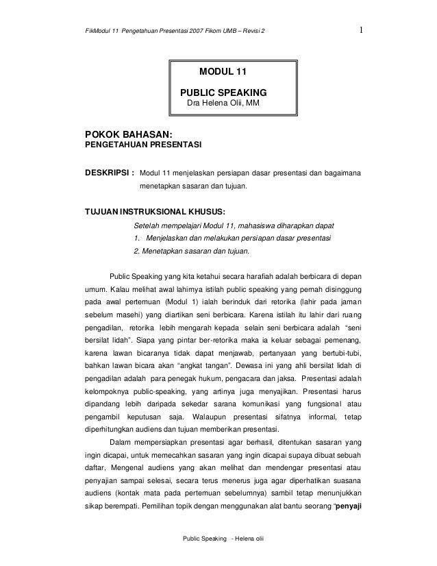 FikModul 11 Pengetahuan Presentasi 2007 Fikom UMB – Revisi 2                               1                              ...