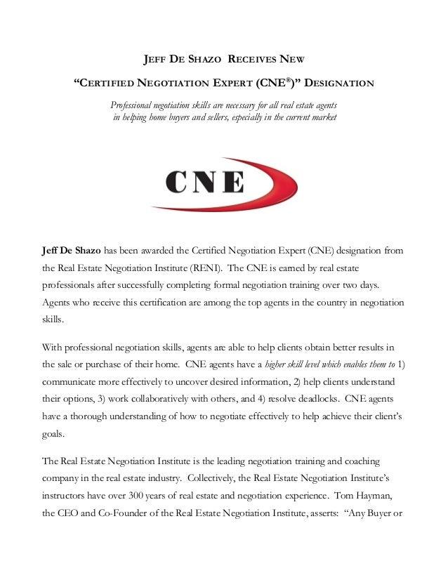CNE Press Release