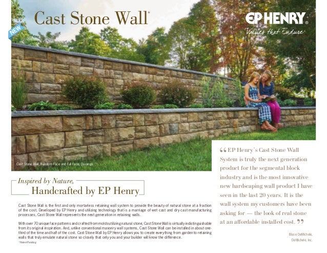 Cast Stone Wall, Random Face and Full Face, Durango Cast Stone Wall is the first and only mortarless retaining wall system...