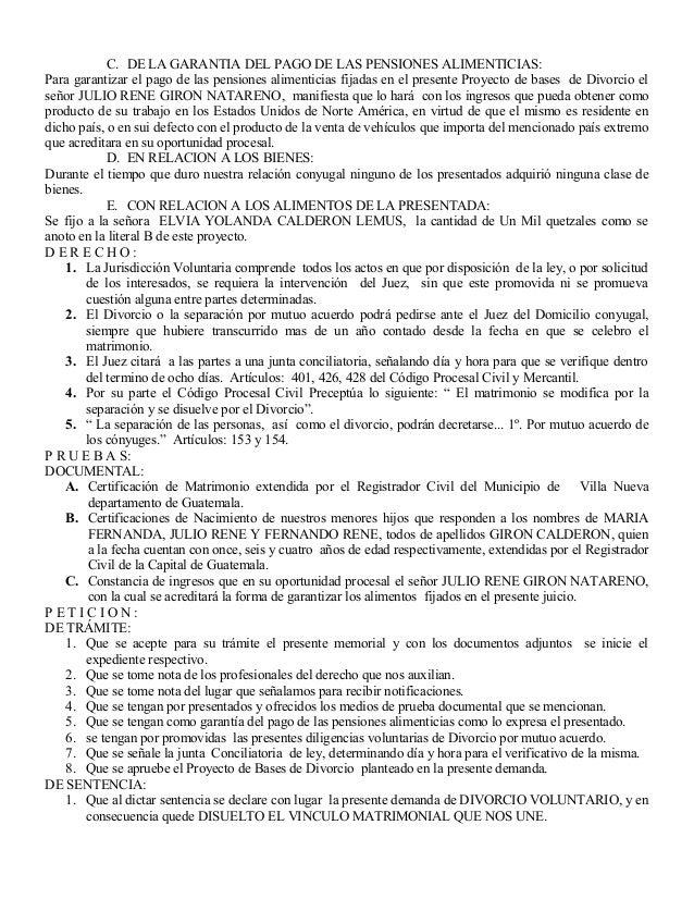 C. DE LA GARANTIA DEL PAGO DE LAS PENSIONES ALIMENTICIAS: Para garantizar el pago de las pensiones alimenticias fijadas en...