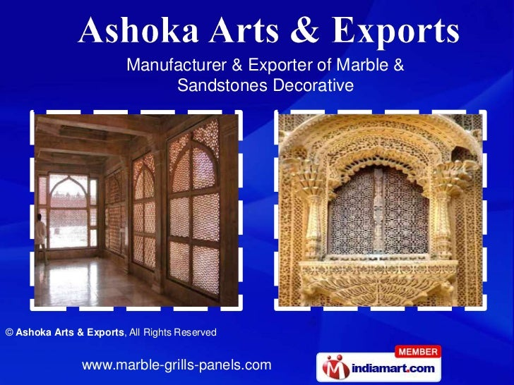 Manufacturer & Exporter of Marble &                              Sandstones Decorative© Ashoka Arts & Exports, All Rights ...