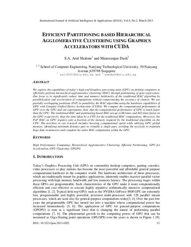 International Journal of Artificial Intelligence & Applications (IJAIA), Vol.4, No.2, March 2013          EFFICIENT PARTIT...