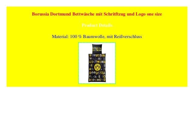 Borussia Dortmund Bettwäsche Mit Schritftzug Und Logo One Size