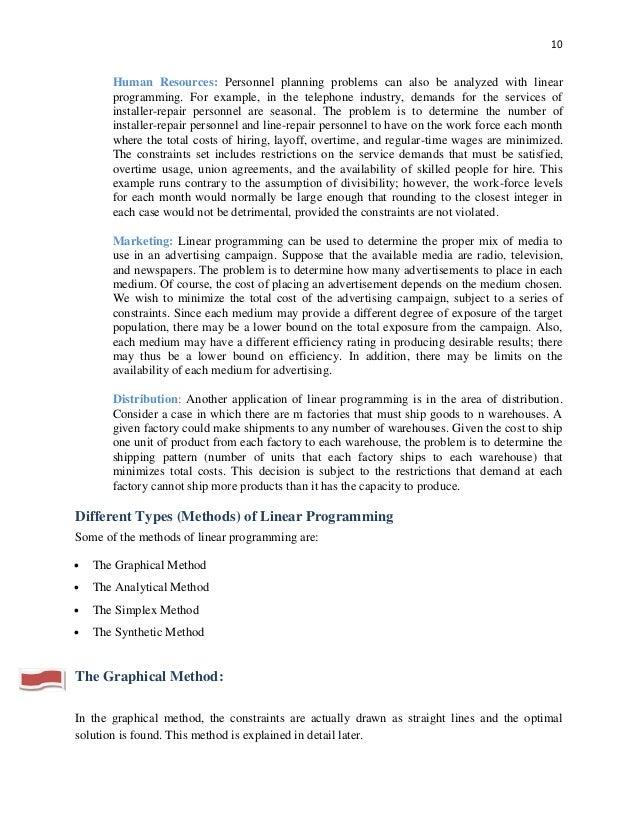 dissertation linear programming Tem mops zu verdanken, dass daraus dann tatsächlich eine dissertation  geworden ist  21 the linear programming problem and its computational forms.