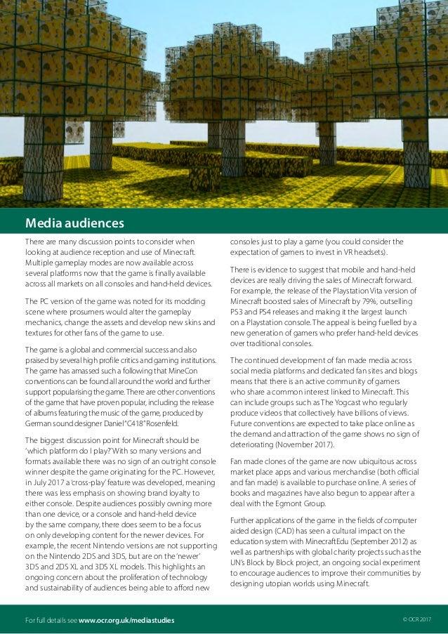 OCR video-games-minecraft-factsheet