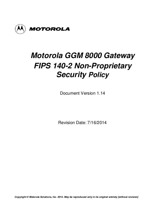 Ggm8000 Fips Certification